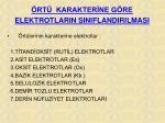 rt karakter ne g re elektrotlarin siniflandirilmasi