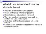 what do we know about how our students learn1