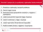 prioriteti i preporuke za podizanje regionalne konkurentnosti
