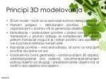 principi 3d modelovanja
