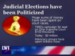judicial elections have been politicized