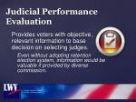 judicial performance evaluation
