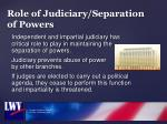 role of judiciary separation of powers