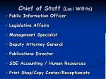 chief of staff luci willits