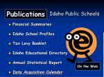 publications idaho public schools