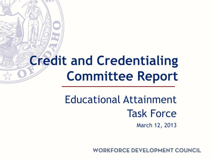 credit and credentialing committee report n.