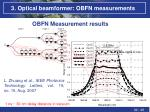 3 optical beamformer obfn measurements