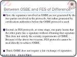between osbe and fes of difference