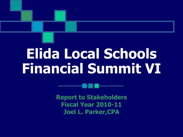 elida local schools financial summit vi n.