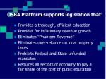 osba platform supports legislation that