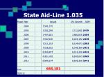 state aid line 1 035