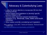 advocacy cyberbullying laws
