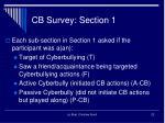 cb survey section 1