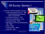 cb survey section 12