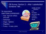 cb survey section 2 after i cyberbullied someone i felt