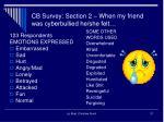 cb survey section 2 when my friend was cyberbullied he she felt