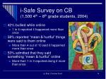i safe survey on cb 1 500 4 th 8 th grade students 2004