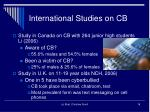international studies on cb