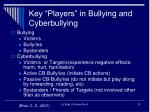 key players in bullying and cyberbullying