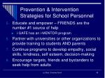 prevention intervention strategies for school personnel1