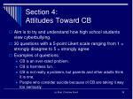 section 4 attitudes toward cb