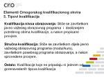 elementi crnogorskog kvalifikacionog okvira 5 tipovi kvalifikacija