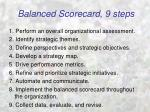 balanced scorecard 9 steps