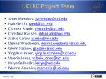 uci kc project team