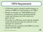 frpa requirements