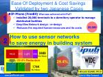 ease of deployment cost savings validated by two japanese cases