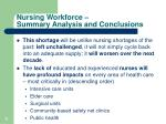 nursing workforce summary analysis and conclusions1
