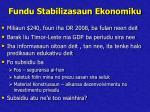 fundu stabilizasaun ekonomiku