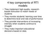4 key components of rti models