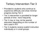 tertiary intervention tier 3