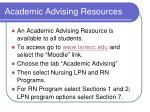 academic advising resources