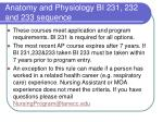 anatomy and physiology bi 231 232 and 233 sequence
