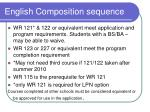 english composition sequence