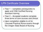 lpn certificate overview