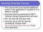nursing diversity course