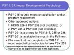 psy 215 lifespan developmental psychology