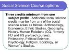 social science course options