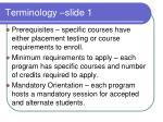 terminology slide 1