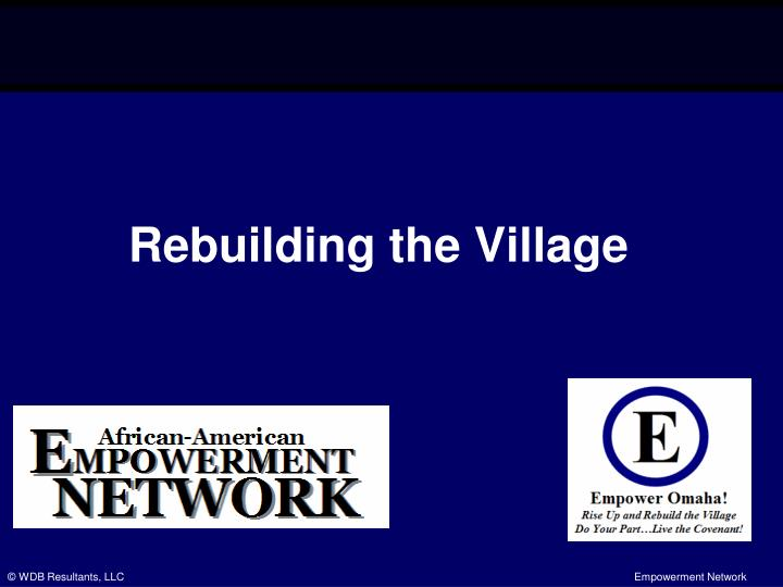 rebuilding the village n.