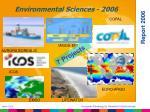 environmental sciences 2006