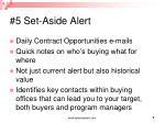 5 set aside alert