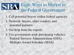 eight ways to market to the federal government