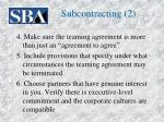 subcontracting 2