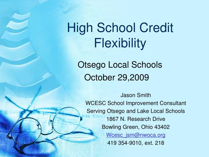 high school credit flexibility n.
