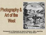 photograph of lithograph by gaylord watson 1881 depicting a romantic land known as the great west