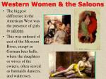 western women the saloons
